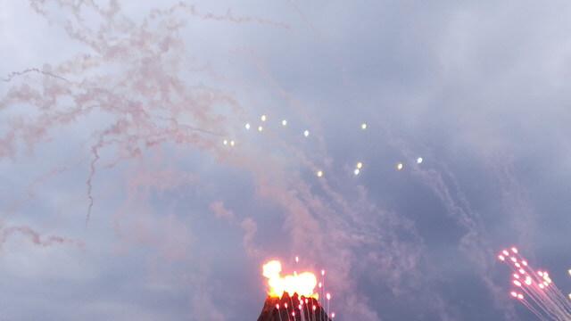 プロメテウス火山の花火