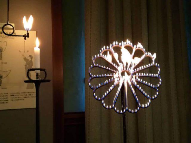 上野にあった花ガス灯