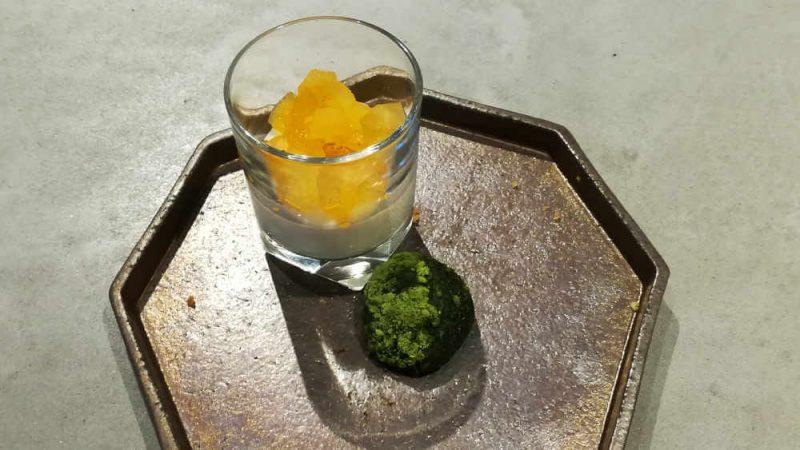 ミレニアム 三井ガーデンホテル 東京 現代里山料理 ZEN HOUSE アフタヌーンティー カキのブランマンジェと抹茶わらび餅