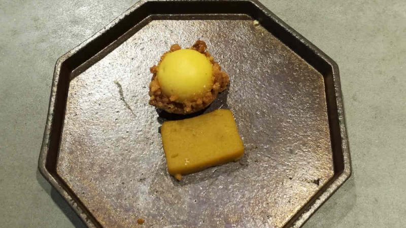 ミレニアム 三井ガーデンホテル 東京 現代里山料理 ZEN HOUSE アフタヌーンティー みかんタルトと芋ようかん