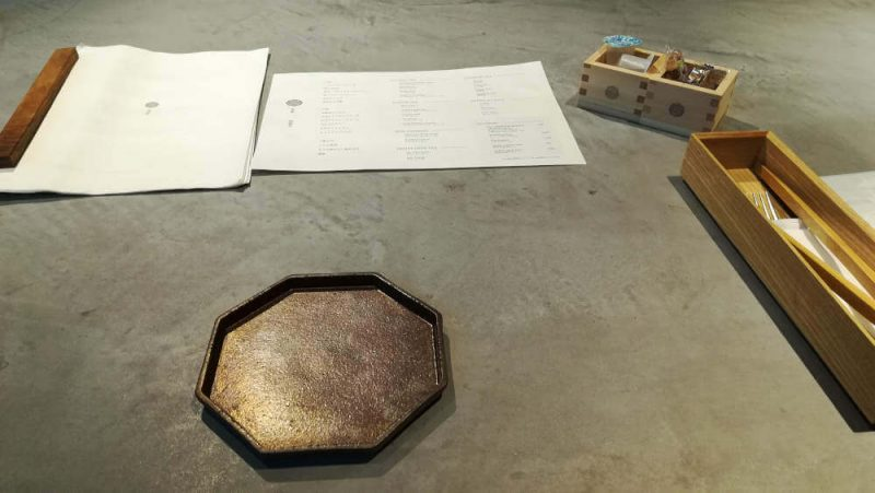 ミレニアム 三井ガーデンホテル 現代里山料理 ZEN HOUSEのアフタヌーンティー テーブルセッティング