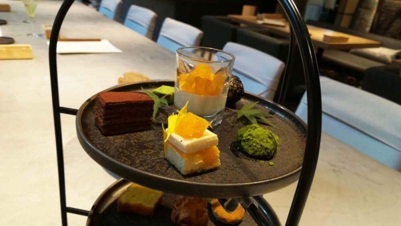 ミレニアム 三井ガーデンホテル 東京 現代里山料理 ZEN HOUSE アフタヌーンティー 一段目スイーツ