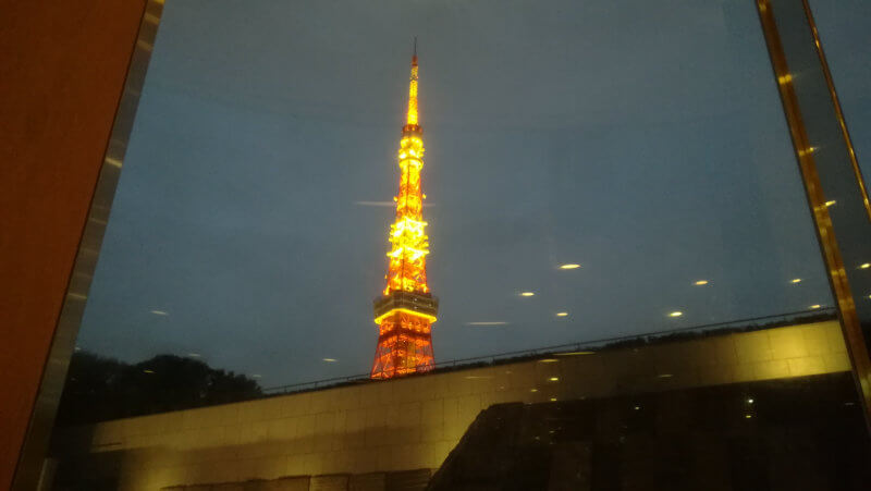 ザ・プリンスパークタワー東京 席から見える東京タワー