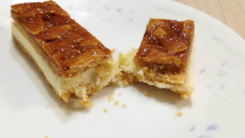 ローソンスイーツ 生フロランタンチーズケーキ 断面