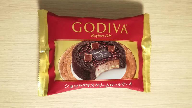 ローソン ゴディバ ショコラアイスクリームロールケーキ パッケージ