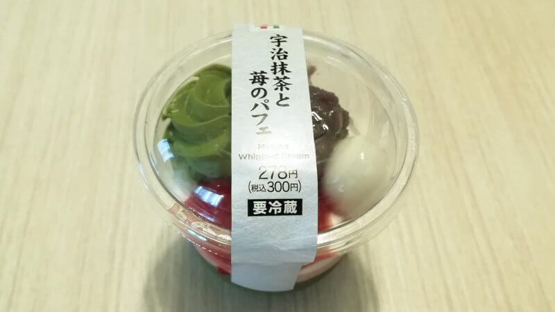 宇治抹茶と苺のパフェ パッケージ