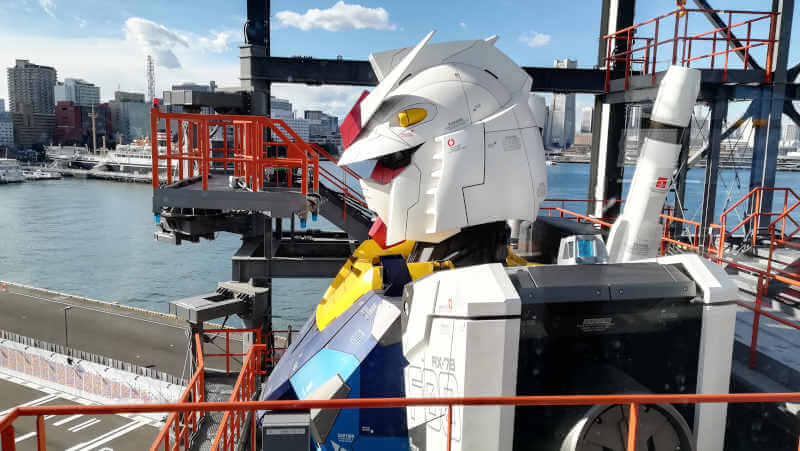 ガンダムファクトリー横浜 RX-78F00 横浜ガンダムの凛々しい横顔