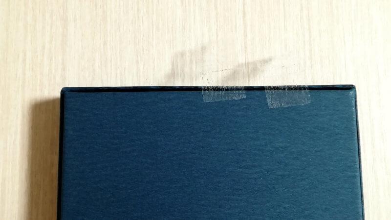 LeTAOルタオ ロイヤルショコラ 外箱のシールは剥がしやすい