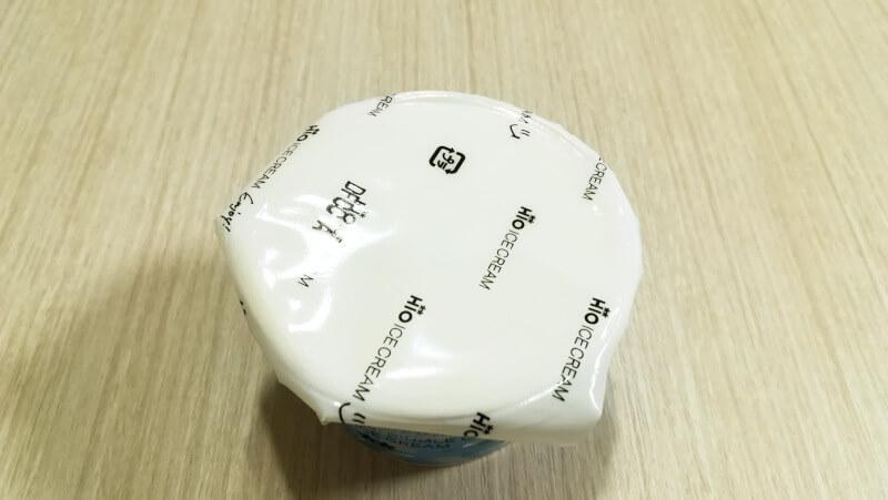 HiOアイスクリーム美瑛シングルオリジンミルク ビニールのフタ