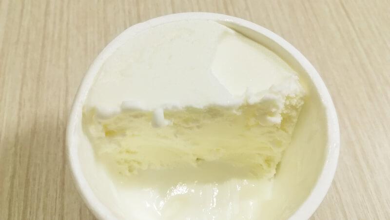 HiOアイスクリーム美瑛シングルオリジンミルク アイス断面